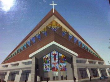 tampak depan gereja Yakobus