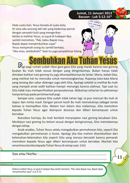 Renungan harian anak 11  Januari 2013