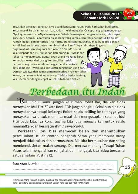 Renungan harian anak 15 Januari 2013