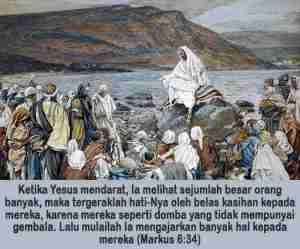 yesus mengajar orang banyak di tepi danau