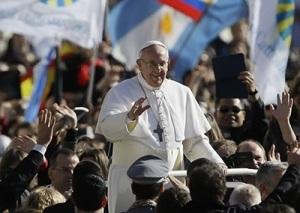 Paus Fransiskus pada misa inaugurasi