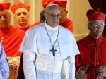 paus Fransiskus sesaat setelah konklaf